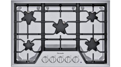 """30"""" Thermador Built-in Patented Star Burners Gas Cooktop with - SGS305TS"""