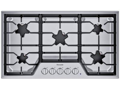 "36"" Thermador 5 Burner Gas Cooktop - SGS365TS"