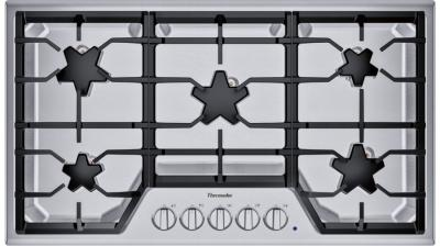 "36"" Thermador 5 Burner Gas Cooktop - SGS365TS"