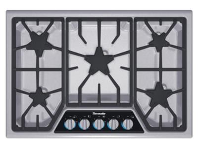 "30"" Thermador Masterpiece Stainless Steel Gas Cooktop With 5 Burners  - SGSX305FS"