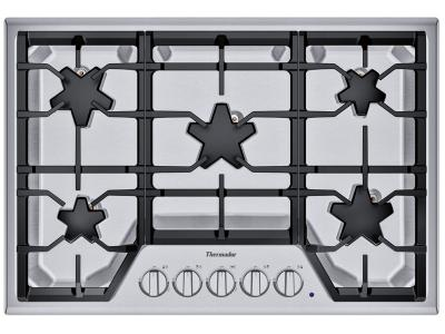 "30"" Thermador 5 Burner Gas Cooktop - SGSX305TS"
