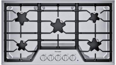 """36"""" Thermador 5 Burner Gas Cooktop - SGSX365TS"""