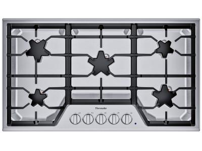 "36"" Thermador 5 Burner Gas Cooktop - SGSX365TS"