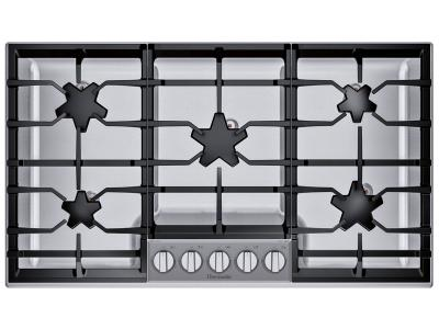 "36"" Thermador Masterpiece Pedestal Star Burner Gas Cooktop - SGSXP365TS"