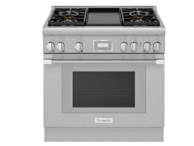 "30"" Thermador  Pro-Harm Duel Fuel Range with 4 Burner Griddle - PRD364WDHC"