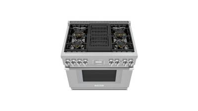 "36"" Thermador Professional Series Pro Harmony Standard Depth All Gas Range - PRG364WLH"