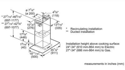 "36"" Bosch Benchmark Glass Canopy Chimney Hood Stainless Steel - HCG56651UC"