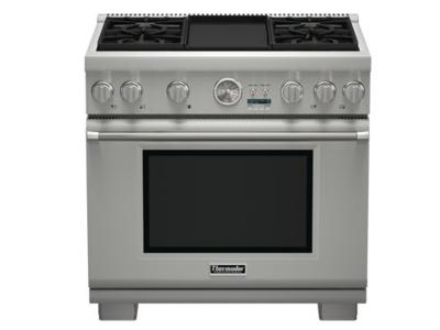 "36"" Thermador Pro Grand  Commercial Depth Gas Range - PRG364JDG"