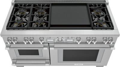 """60"""" Thermador Pro Grand  Commercial Depth Dual Fuel Steam Range - PRD606WESG"""