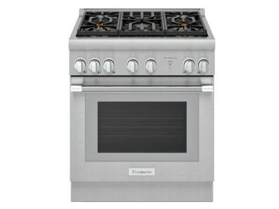 "30"" Thermador Pro-Harm Duel Fuel Range with 5 Burner - PRD305WHC"