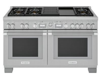 "60"" Thermador Professional Series Pro Grand Commercial Depth Dual Fuel Range - PRD606WCG"