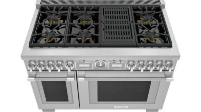 """48"""" Thermador Professional Series Pro Grand Commercial Depth All Gas Range - PRG486WLG"""