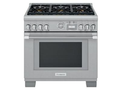 "36"" Thermador Professional Freestanding Dual-Fuel Range- PRD366WGC"