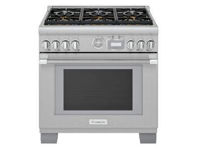 "36"" Thermador Pro Grand Freestanding Gas Range - PRG366WG"