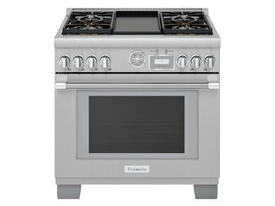 "36"" Thermador Professional Series Pro Grand Commercial Depth Gas Range - PRG364WDG"