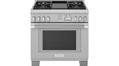 """36"""" Thermador Professional Series Pro Grand Commercial Depth Gas Range - PRG364WDG"""