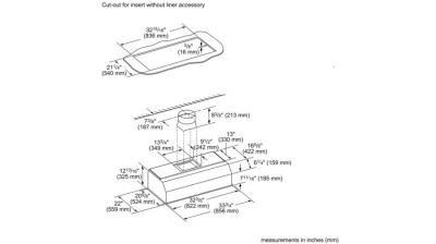 "36"" Thermador  Professional Custom Insert, Optional Blower - VCIN36GWS"